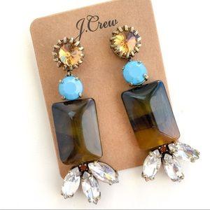 Jcrew tortoise statement earrings